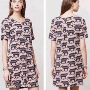 Maeve bear print dress anthropologie